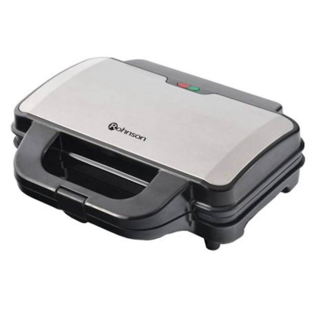 Sandwich Maker Rohnson R276, 900w, Placi Antiaderente, Gri/negru