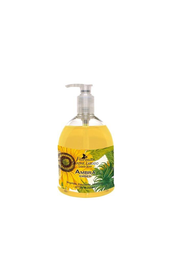 Sapun lichid vegetal hidratant cu chihlimbar si ulei de Jojoba Florinda, 500 ml