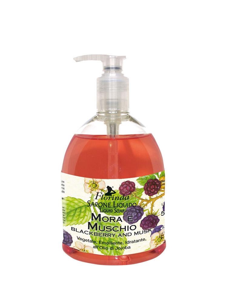 Sapun lichid vegetal hidratant cu mure si mosc si ulei de Jojoba Florinda, 500 ml