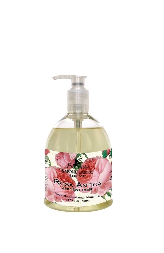Sapun lichid vegetal hidratant cu Rosa Antica si ulei de Jojoba, Florinda, 500 ml