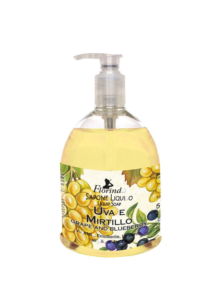 Sapun lichid vegetal hidratant cu struguri si afine si ulei de Jojoba Florinda, 500 ml