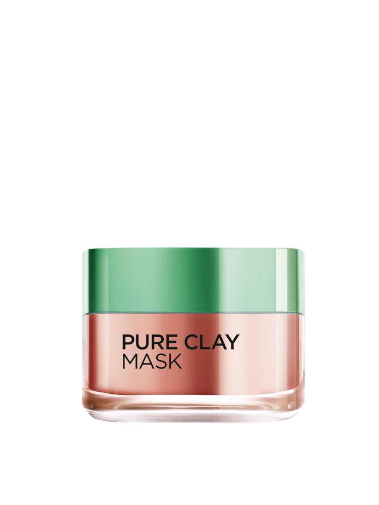 Masca exfolianta pentru netezirea tenului L'Oreal Paris Pure Clay cu extract de alga rosie, 50 ml