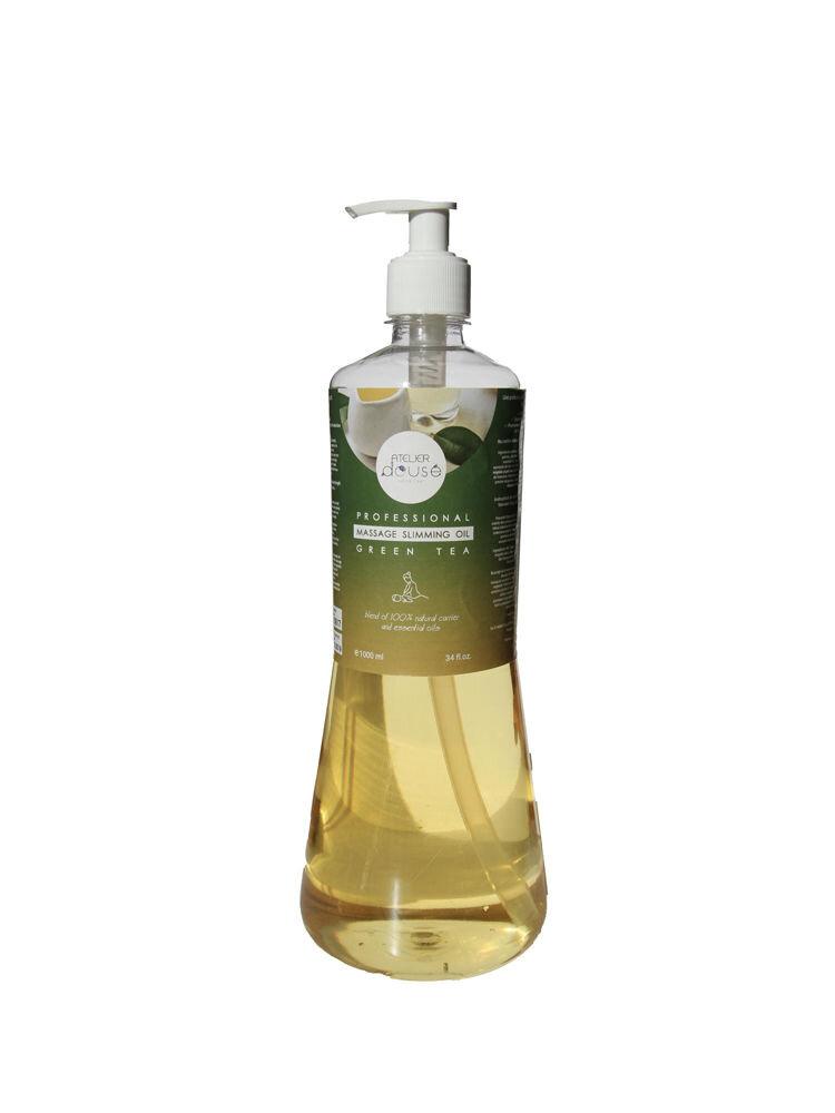 Ulei profesional Slimming pentru masaj ,Ceai Verde, natural, 1000 ml