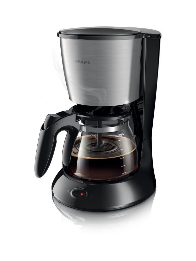 Cafetiera Philips, Daily Collection, Vas De Sticla, 1000w, 1.2 L, 2-15 Cesti, Hd7462/20, Negru