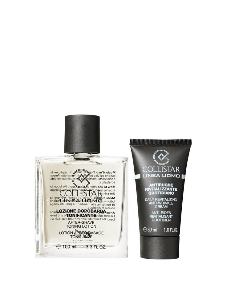 Set ingrijire Collistar, Barbati: Lotiune tonifianta after shave, 100 ml + Crema revitalizanta, 30 ml