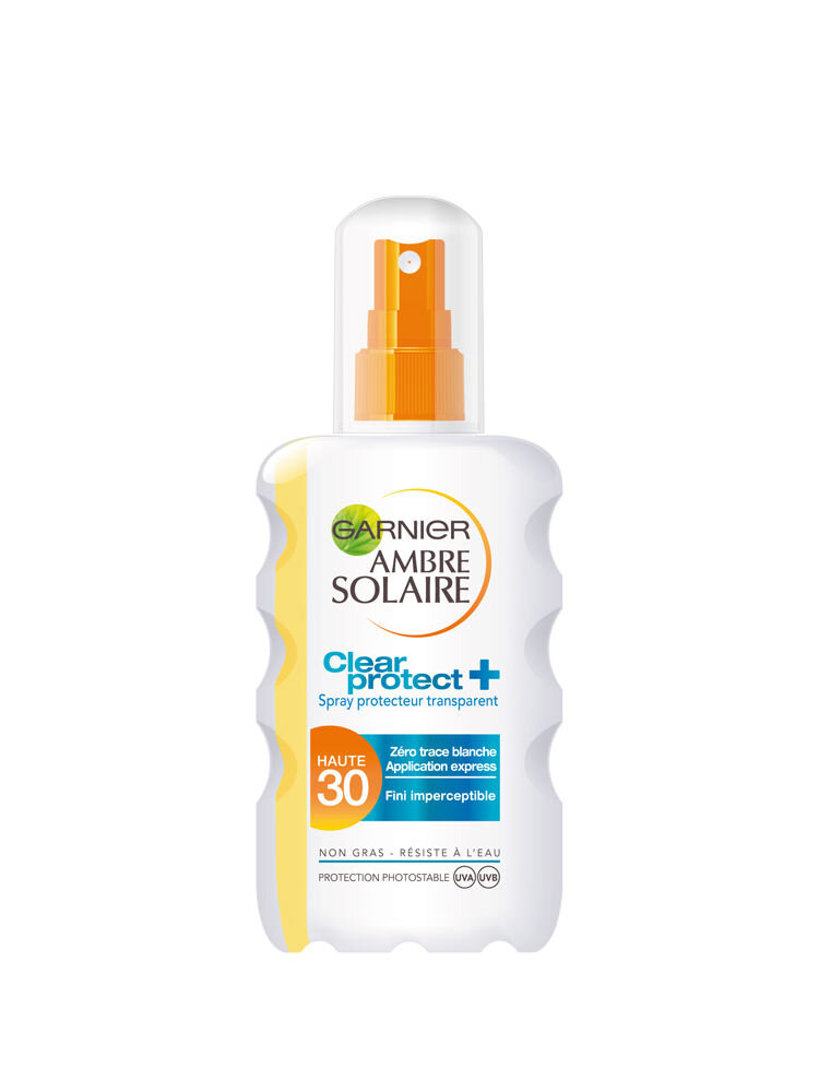 Spray transparent Clear Protect cu protectie solara Garnier Ambre Solaire SPF 30, 200 ml