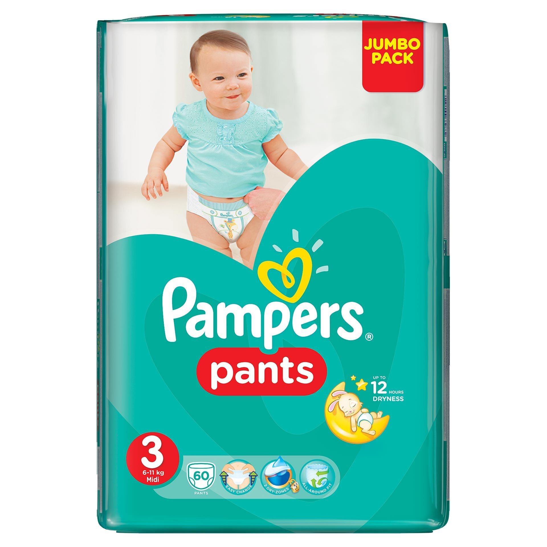 Imagine indisponibila pentru Scutece-chilotei Pampers Pants nr.3, 6-11 kg, 60 bucati