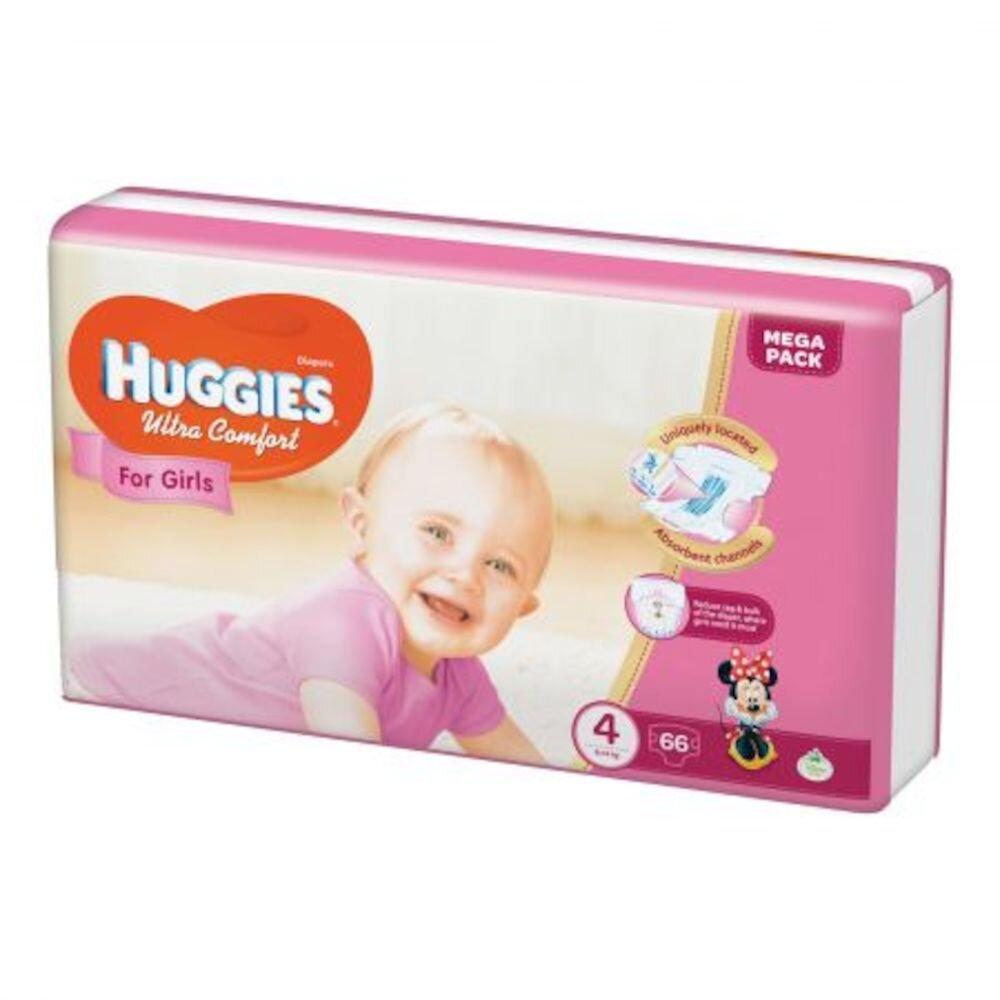 Scutece Huggies ultra confort girl 4 (66) 8-14kg