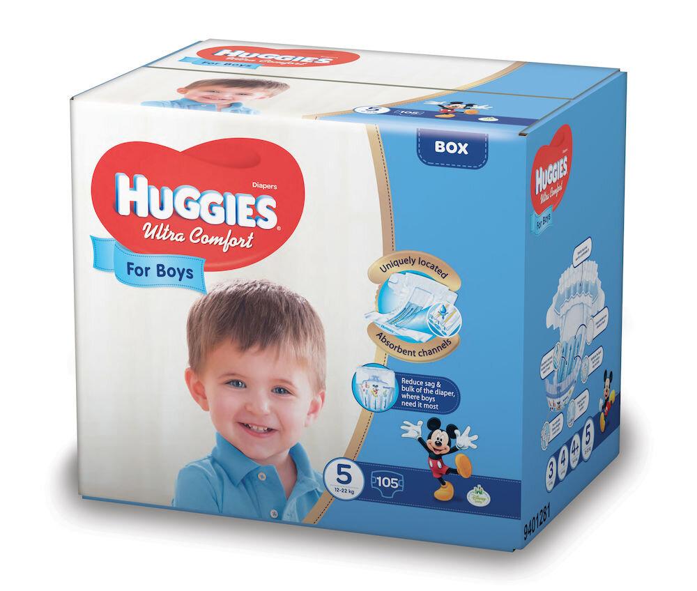 Imagine indisponibila pentru Scutece Huggies ultra confort boy 5, 12-22kg, 105 buc