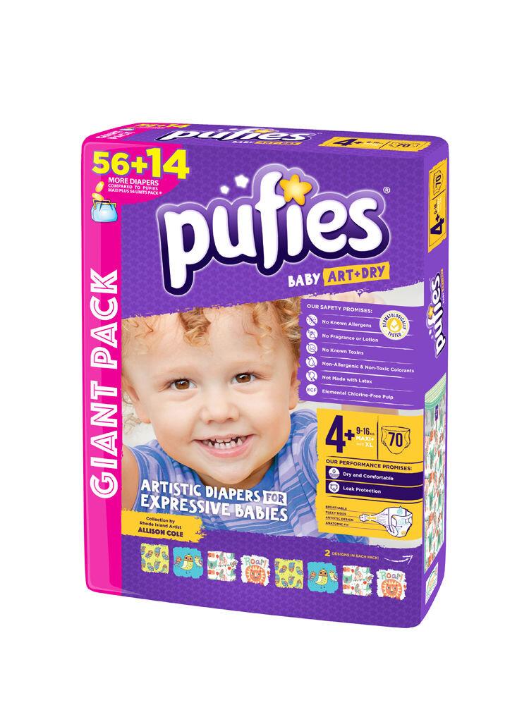 Imagine indisponibila pentru Scutece Pufies Baby Art giant pack, 4+ maxi+, 70 buc