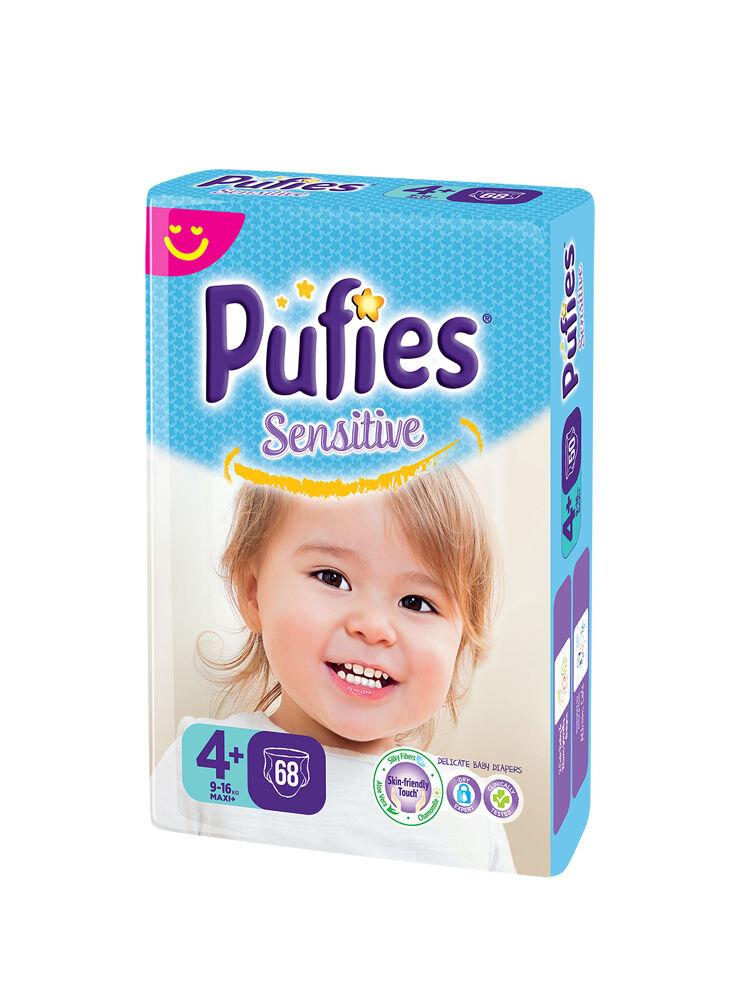 Imagine indisponibila pentru Scutece Pufies Sensitive giant pack, 4+ maxi+, 68 buc