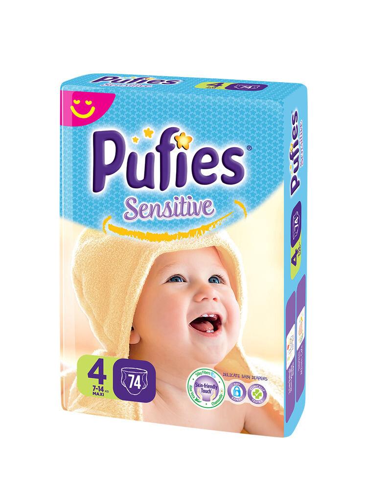 Imagine indisponibila pentru Scutece Pufies Sensitive giant pack, 4 maxi, 74 buc