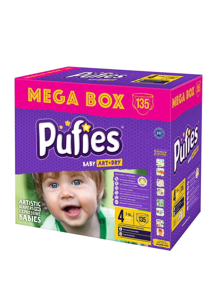 Imagine indisponibila pentru Scutece Pufies Baby Art Mega box, 4 maxi, 135 buc
