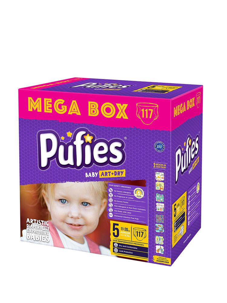 Imagine indisponibila pentru Scutece Pufies Baby Art Mega box, 5 junior, 117 buc