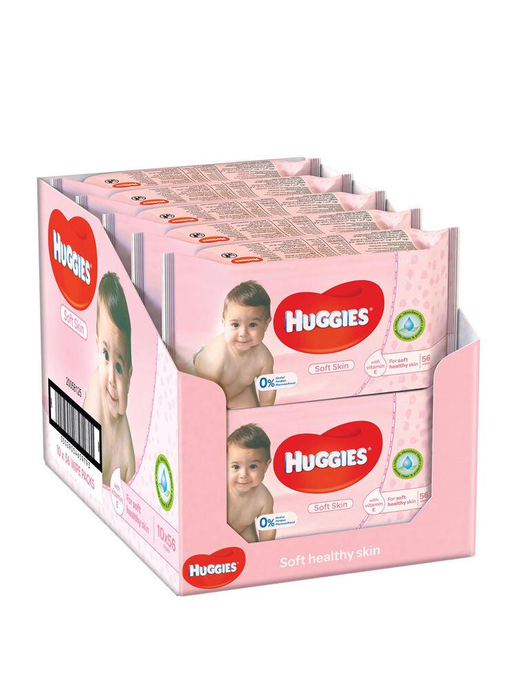 Imagine indisponibila pentru Set 10 x Servetele umede Huggies Soft Skin, 56 buc
