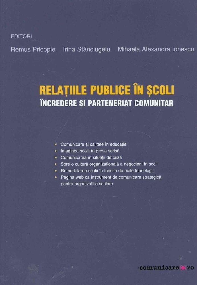 Relatiile publice in scoli: incredere si parteneriat comunitar