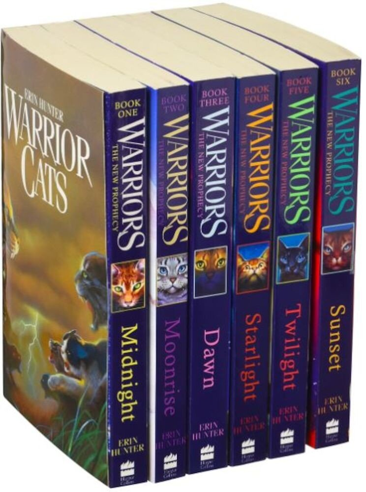 Warrior Cats Collection 6 Books Gift Set Pack (Midnight, Moonrise, Dawn, Starlight, Twilight, Sunset)