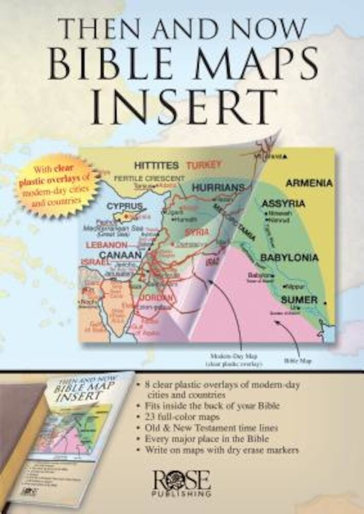 Then and Now Bible Maps Insert, Paperback