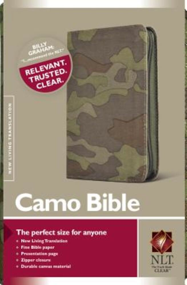 Camo Bible-NLT-Zipper, Hardcover