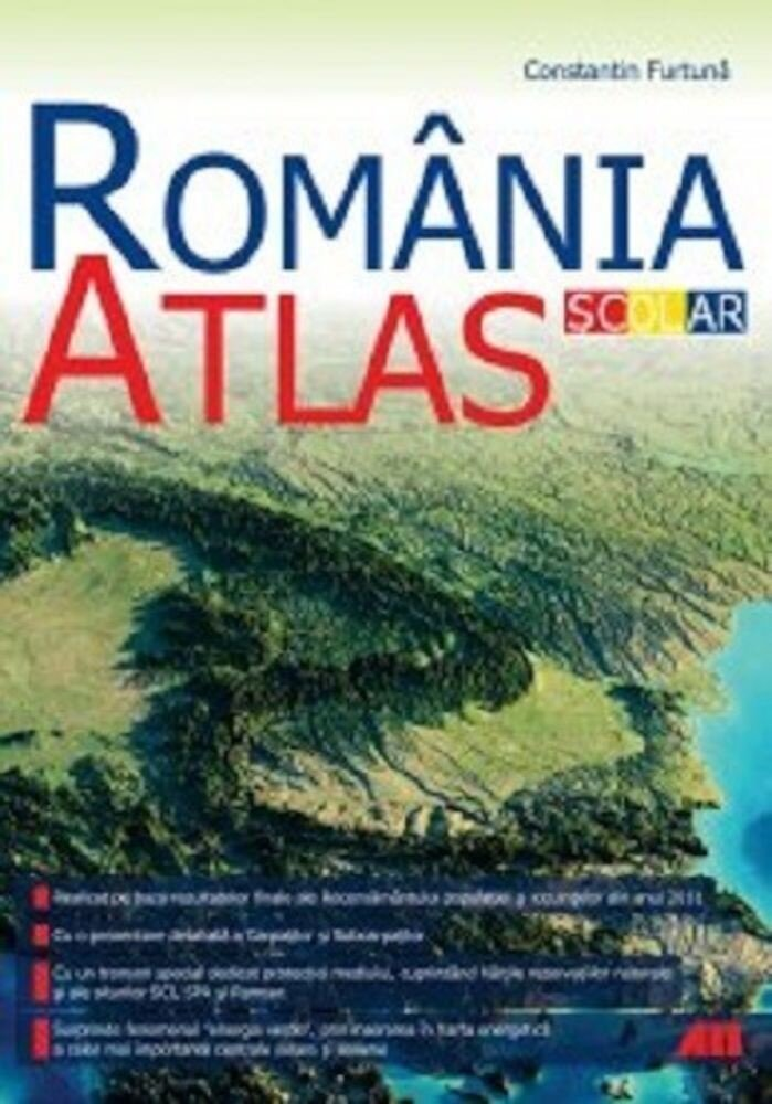 Coperta Carte Atals geografic scolar - Romania