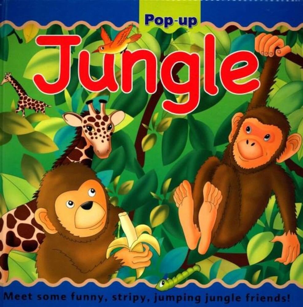 Large Pop Up Book (8 Pops) - Jungle (Ctn Qty 10)