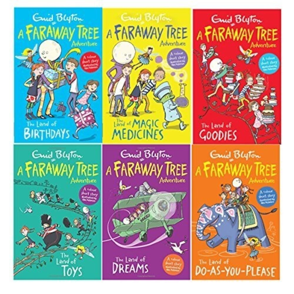 Enid Blyton Books The Magic Faraway Tree Collection 6 Books Colour Set