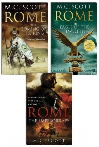 M C Scott Rome Series 3 Books Collection Set Pack