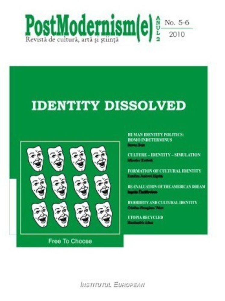 Coperta Carte Postmodernism(e) nr.5-6/2010 - Identity Dissolved