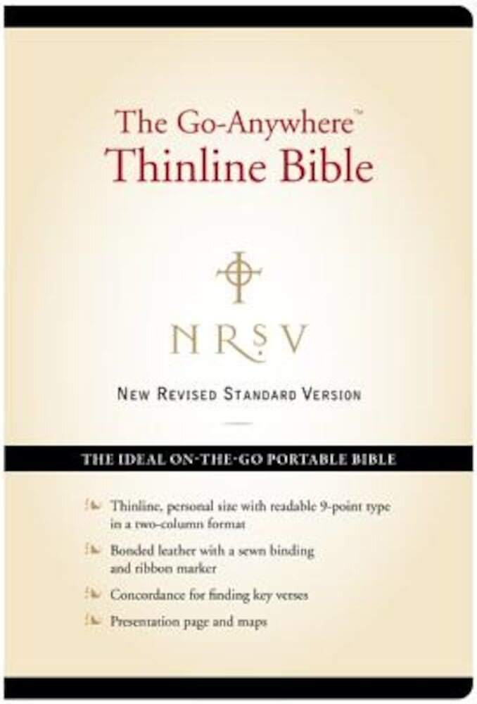 Go-Anywhere Thinline Bible-NRSV-Personal Size, Hardcover