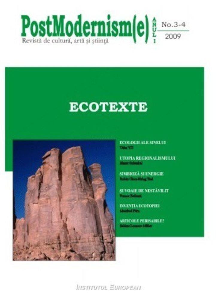 Coperta Carte Postmodernism(e) nr.3-4/2009 - Ecotexte