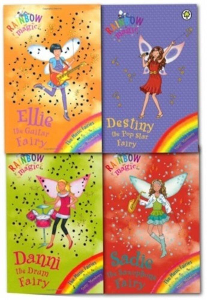 Coperta Carte Rainbow Magic The Pop Star Collection Daisy Meadows 4 Books Set