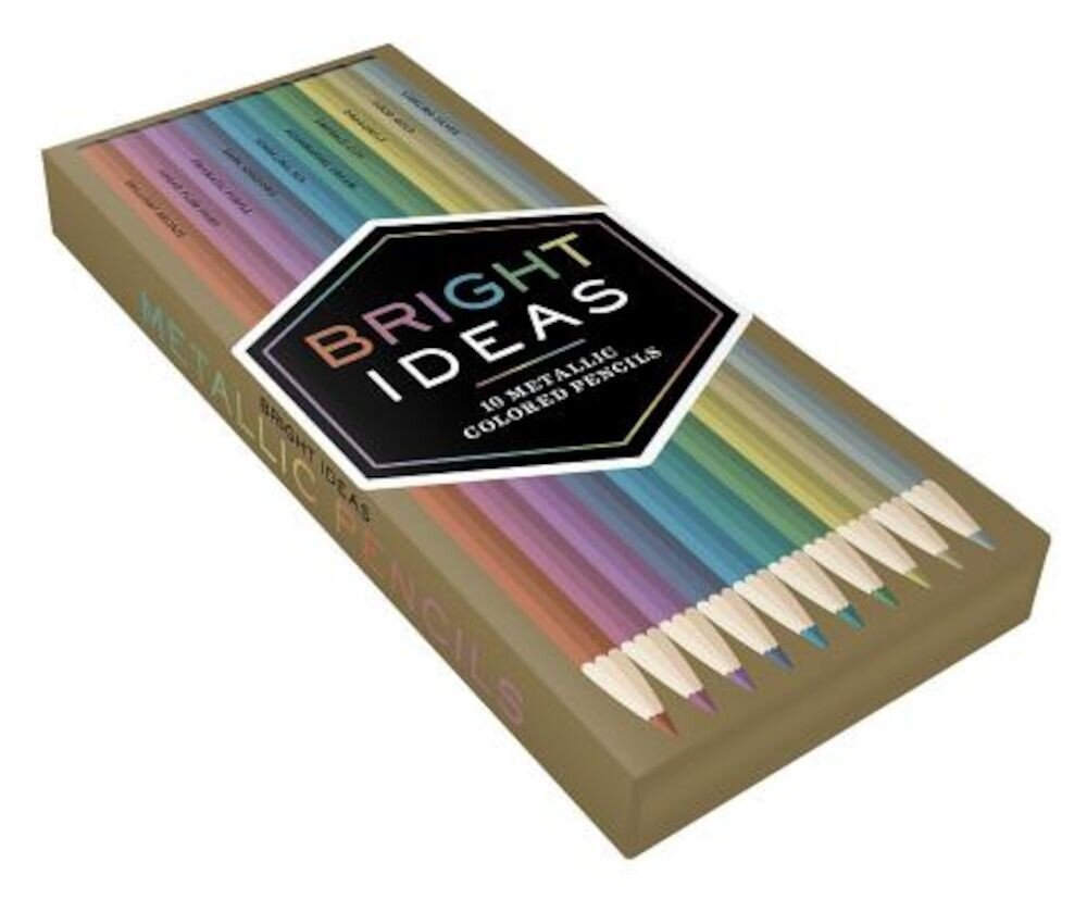 Bright Ideas Metallic Colored Pencils, Hardcover