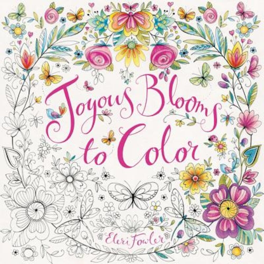 Joyous Blooms to Color, Paperback