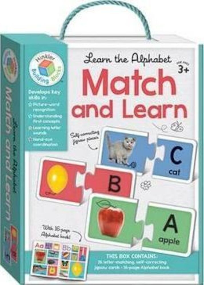 Learn The Alphabet Building Blocks Match and Learn Cards