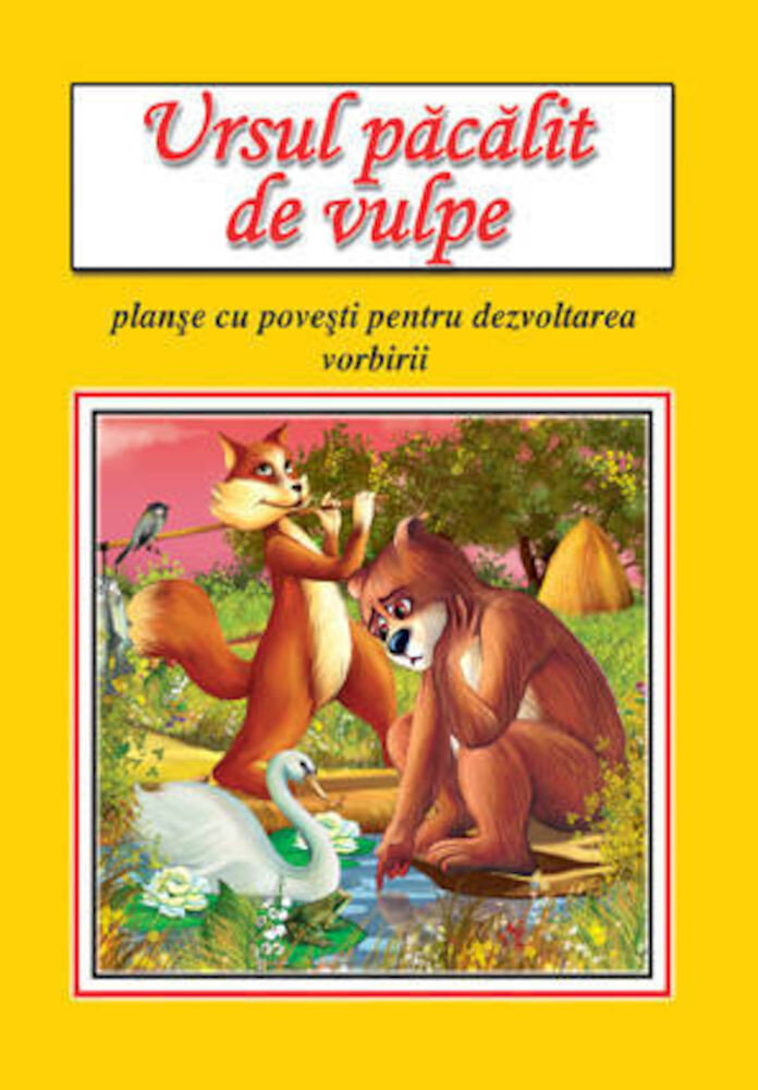 Ursul pacalit de vulpe - planse educative