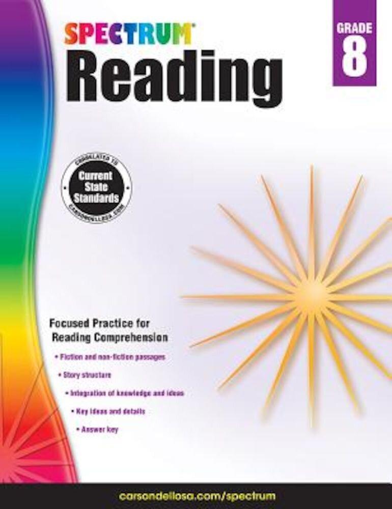 Spectrum Reading Workbook, Grade 8, Paperback