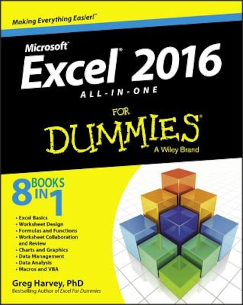 Excel 2016 All-In-One for Dummies, Paperback