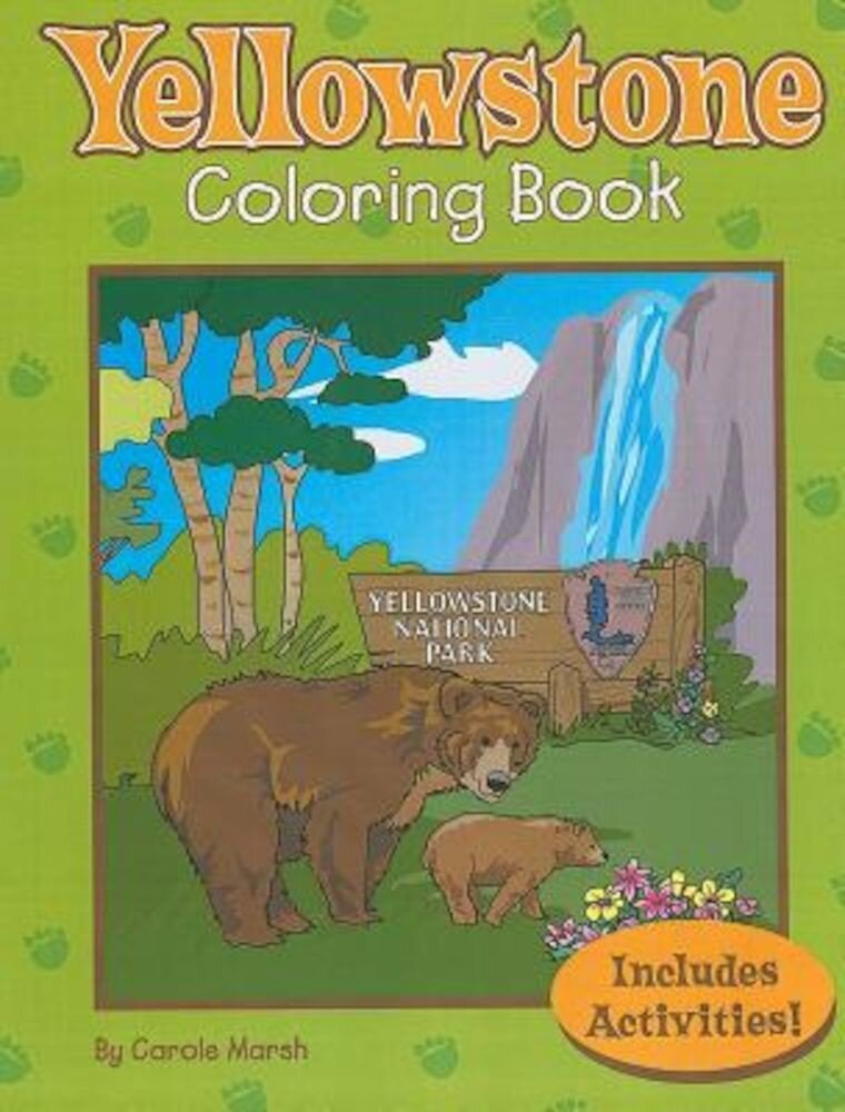 Yellowstone Coloring Book, Paperback