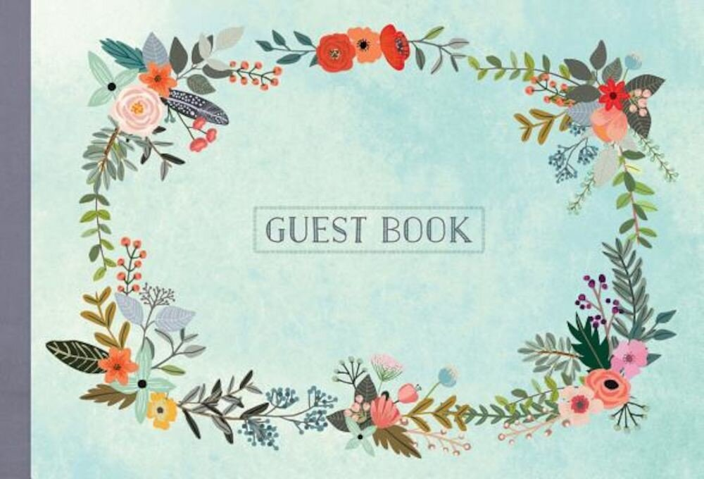 Guest Book: Illustrated Nature Edition, Hardcover