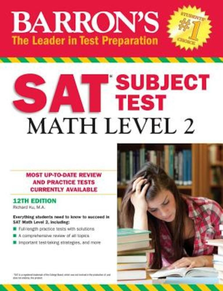 Barron's SAT Subject Test: Math Level 2, 12th Edition, Paperback