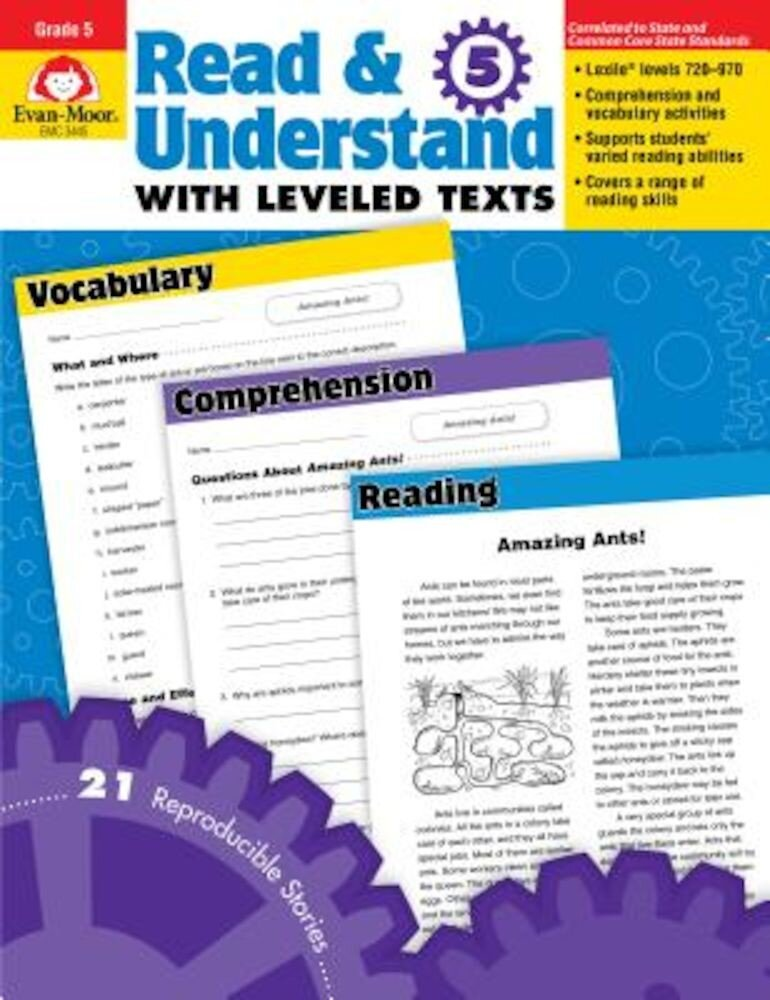 Read & Understand with Leveled Texts, Grade 5, Paperback