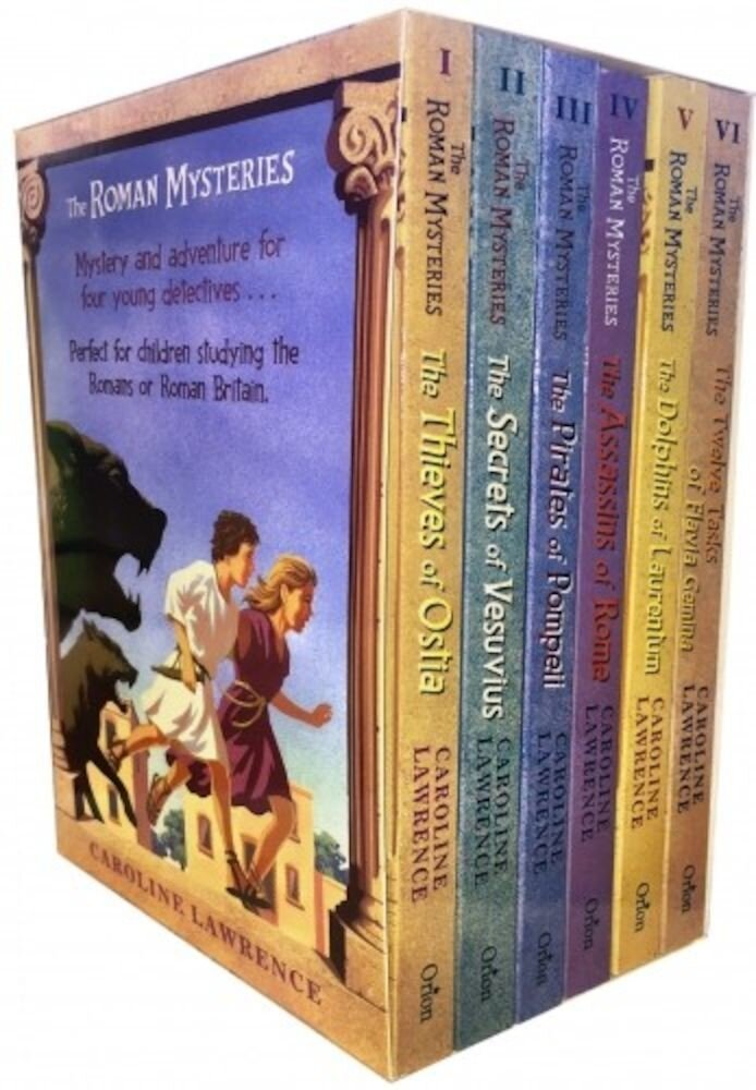 Roman Mysteries Caroline Lawrence 6 Books Box Set Collection
