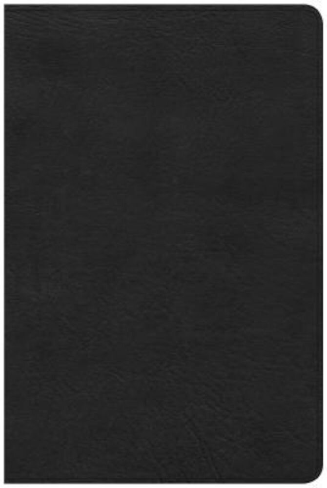 CSB Large Print Personal Size Reference Bible, Black Leathertouch, Hardcover