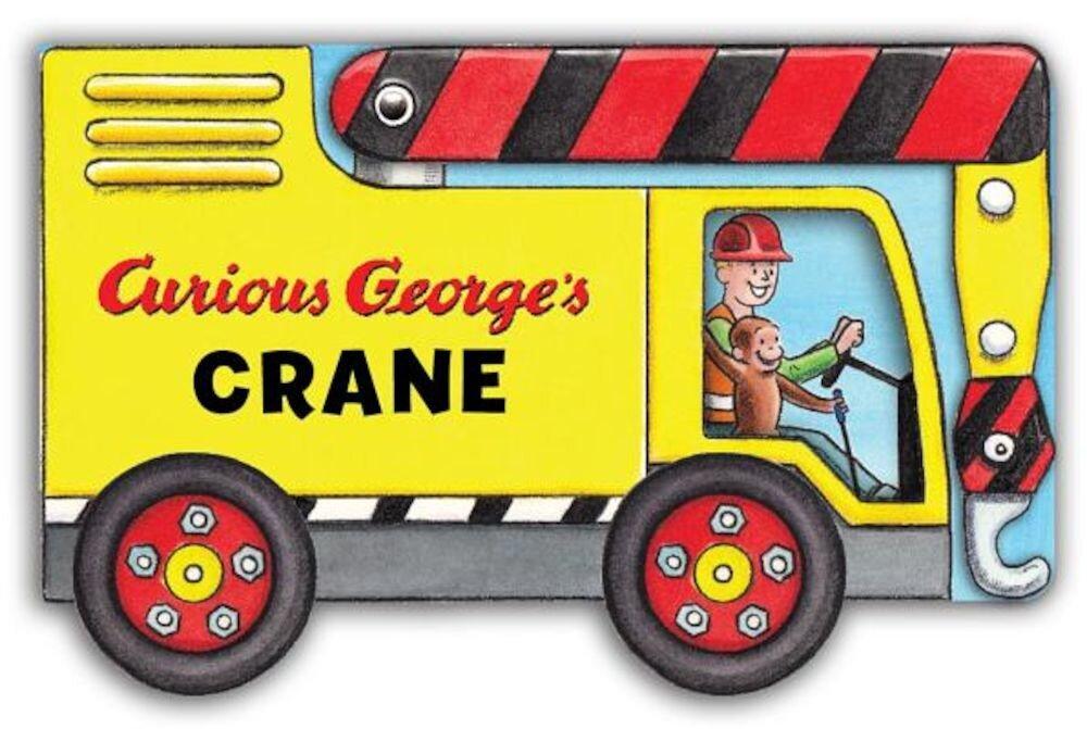 Curious George's Crane (Mini Movers Shaped Board Books), Hardcover