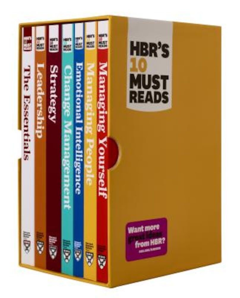 HBR's 10 Must Reads Boxed Set with Bonus Emotional Intelligence (7 Books) (HBR's 10 Must Reads), Paperback