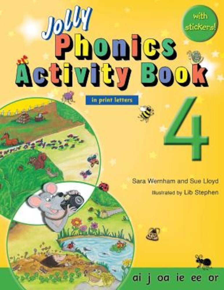 Jolly Phonics Activity Book 4 (in Print Letters), Paperback