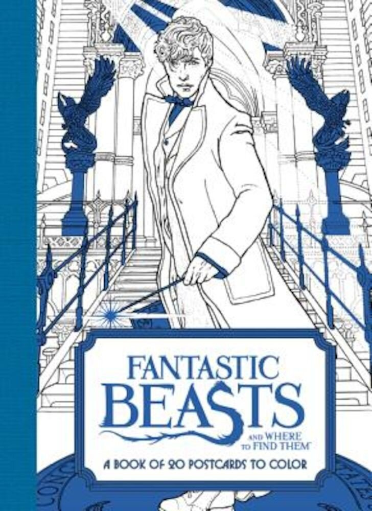 Fantastic Beasts and Where to Find Them: A Book of 20 Postcards to Color, Paperback