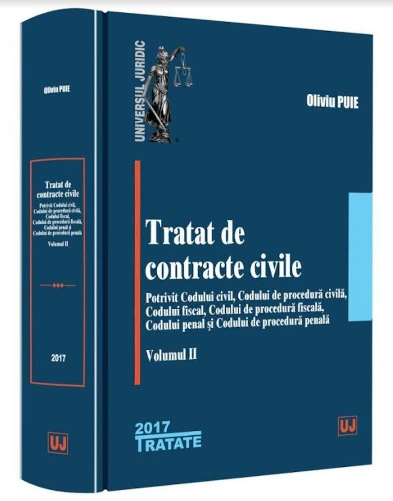 Coperta Carte Tratat de contracte civile. Volumul II