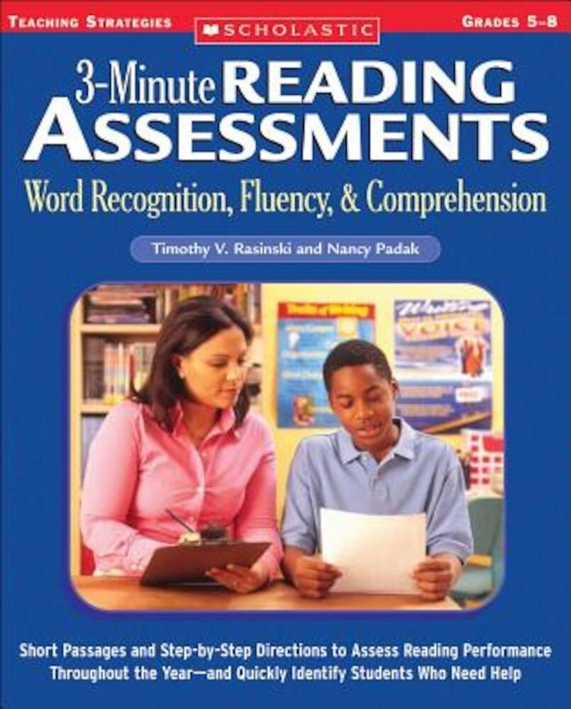 3-Minute Reading Assessments Prehension: Word Recognition, Fluency, & Comprehension, Paperback