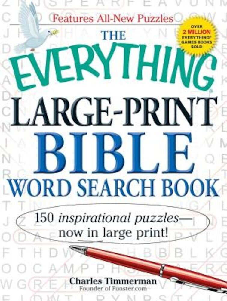 The Everything Large-Print Bible Word Search Book, Paperback